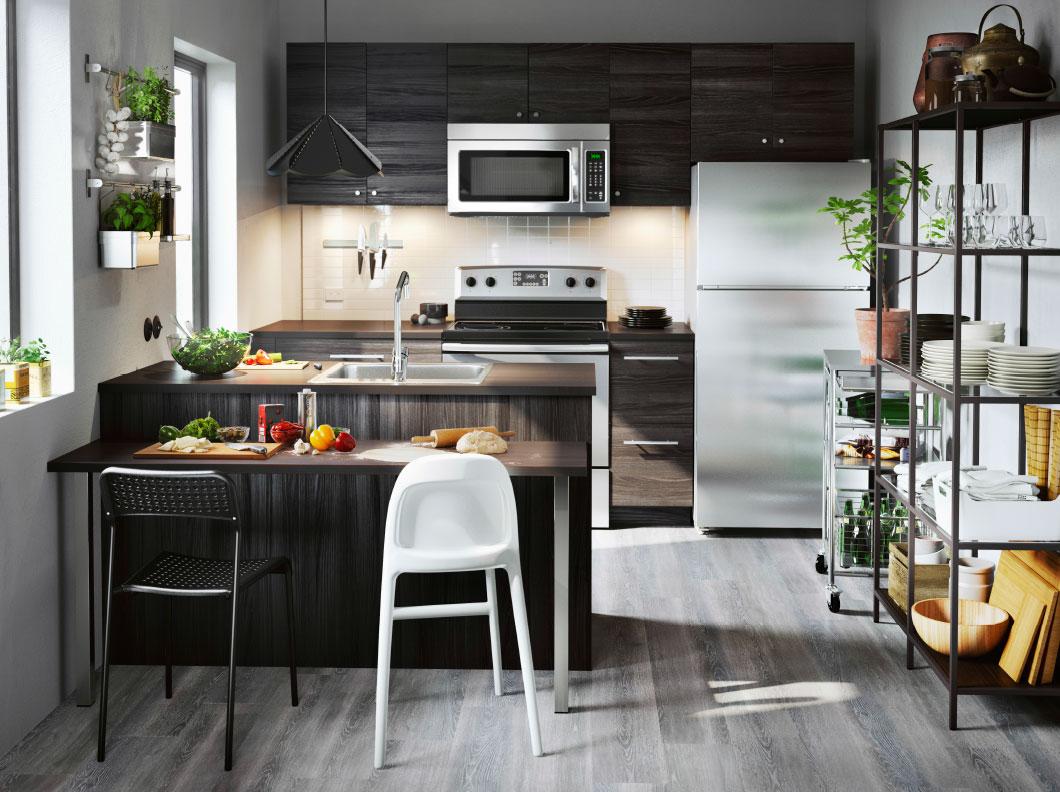 Small and stylish kitchen.